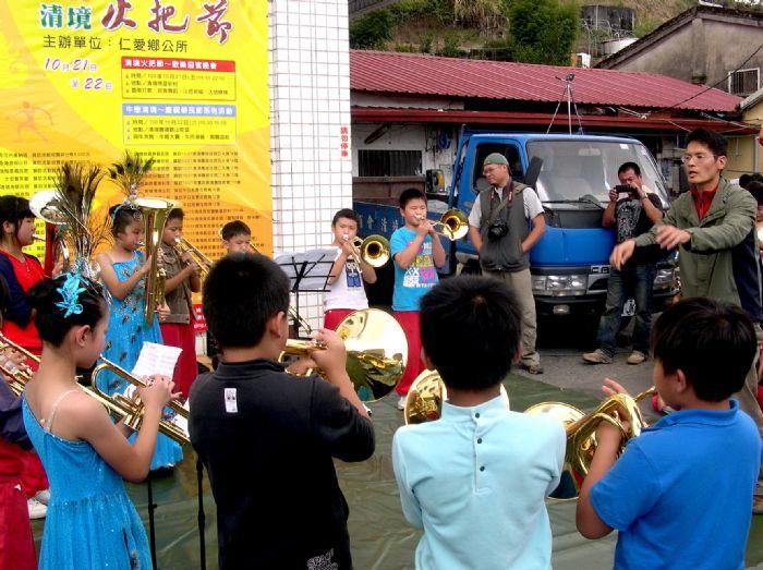 清境國小王瑞老師指揮管樂團演奏